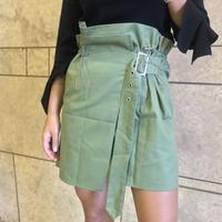 トレンチスタイル スカート カーキ
