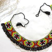【ウクライナ雑貨】ビーズ刺繍ネックレス『ジュチュキ・パブチュキ』 J7