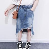 Kids★デニムロングスカート