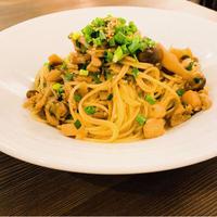 大山鶏と木の子の和風スパゲティ(麺・ゆで塩付)