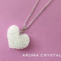 ガラスが香る、アロマネックレス・アロマクリスタル ハートペンダント AROMA CRYSTAL®