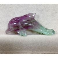 フローライト イルカ彫刻50mm④