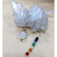 ペンデュラム 水晶とチャクラストーン