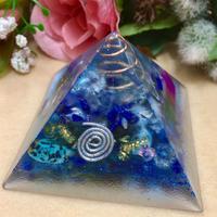 オルゴナイト ピラミッド型②ブルー