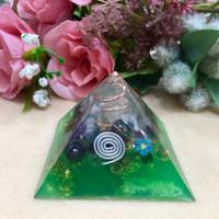 オルゴナイト ピラミッド型①グリーン