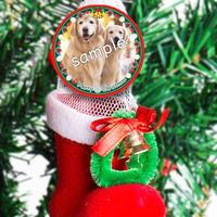 【ブーツ付き】クリスマスデザインオリジナル缶バッジ