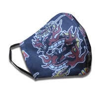 DRAGON  MASK - BLACK