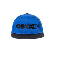"ANIMALIA  SNAPBACKCAP ""BLACKxBLUE TWILL"""