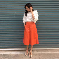 Leather Long SK ORANGE