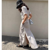 Long Slit-skirt(2color)