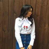 2way Rose Shirt WHITE