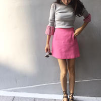 Flare Sleeve Knit GRAY