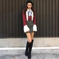 Ribbon Tie Blouse BORDEAUX