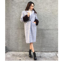 Mink Wool Coat ICEBLUE