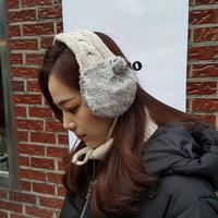 knit earmuffs / ivory