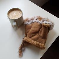 mutton gloves / camel