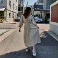 【先行予約】マロンワンピース/オートミール