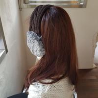 knit earmuffs / brown