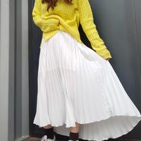 シフォンプリーツスカート/ホワイト