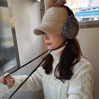 knit earmuffs / black