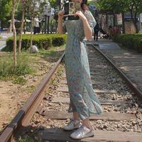 フラワーワンピース/ミント