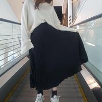 シフォンプリーツスカート/ブラック