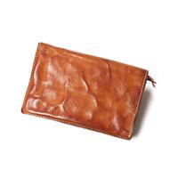 ANNAK ウォッシュ2つ折りミドルサイズ財布 ベージュ AK11TA-B0020