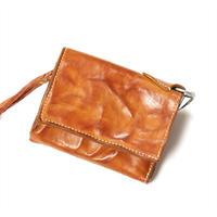 ANNAK ウォッシュフラップ付2つ折り蛇腹財布 ベージュ AK8TA-B8010