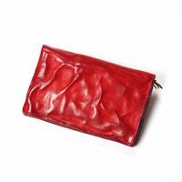 ANNAK ウォッシュ2つ折りミドルサイズ財布 レッド AK11TA-B0020
