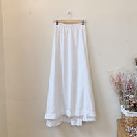 antique white skirt