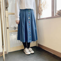 used euro embroidery skirt