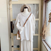 used linen white camisole