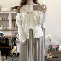 used hadknit blouse