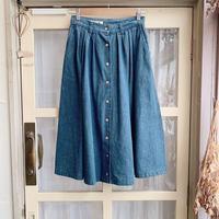 used denim skirt