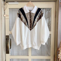 used 80s design blouse