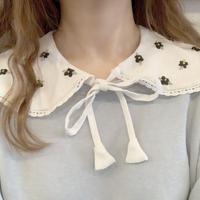 gaga 花刺繡のつけ襟