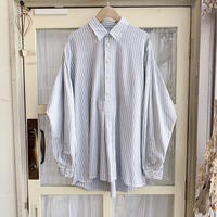 used euro stripe blouse