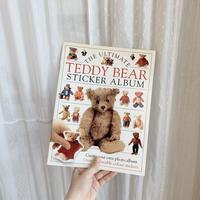 vintage bear sticker album