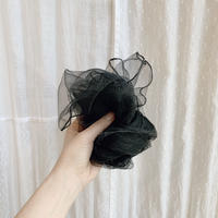 used see-through scarf (black)