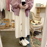 used euro linen skirt