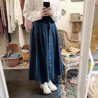 used euro denim skirt
