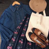 used design denim blouse