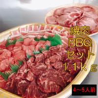 今回で販売終了‼【4~5人前】希少部位も入ってます❗️焼肉・BBQセット 1.1kg