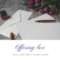 お賽銭箱(投げ銭)−直筆お礼状をお届けします