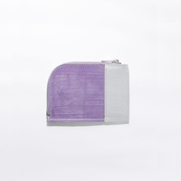 REFLECTOR LEATHER ZIP WALLET / PURPLE