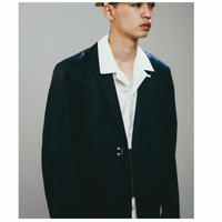 MERCERISED COTTON 2B JACKET / NAVY