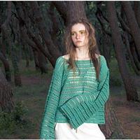 手編み透かしクロシェット コットンサマーニット ビッグスリーブ#1847036