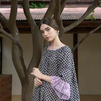 綿ハンドブロックプリント・チュニックドレス #2013013