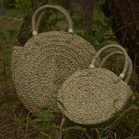水草手編みまんまるかごバッグ#1878015 S-SIZE