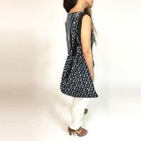 巾着ビーチバッグ/STAR FISHプリント/フリンジ/1778035